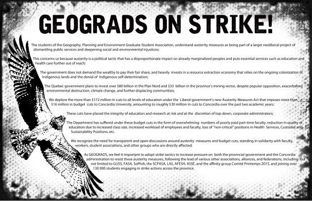 geograds strike mandate poster