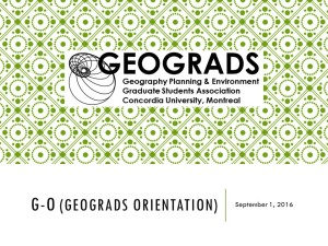 G-O (GEOGRADS ORIENTATION resource list