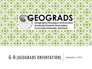 G-O (GEOGRADS ORIENTATION resource list
